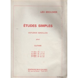 Études simples (Estudios sencillos) pour guitare 3eme série (N° 11 à 15)