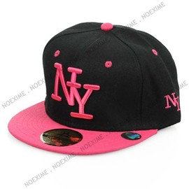 Casquette Ny Noir Rose New York Adulte Reglable Snapback