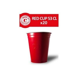 20 Gobelets Rouges 53cl - Original Cup
