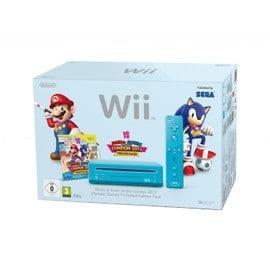 Image Console Wii Bleue Mario Et Sonic Au Jo De Londres
