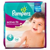 Pampers Active Fit T4 7-18 Kg G�ant X39 Couches