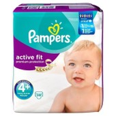 Pampers Active Fit T4+ 9-20 Kg G�ant X38 Couches