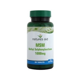 Natures Aid Msm (Methylsulphonylmethane) 1000mg, 90 Comprim�s. Adapt� Pour Les V�g�taliens.