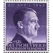Pologne, Occupation Allemande, 1943, General Gouvernement, 54�me Anniversaire Chancelier Hitler, Yv. 112, Neuf** Luxe