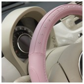 Couvre Volant De Voiture Style Pinky Rose Strass Diamant 37 - 39 Cm
