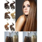 100 Extensions De Cheveux Pose A Froid Easy Loop 100% Naturels Remy
