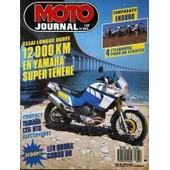 Moto Journal N� 895 Du 25/05/1989 - Comparatif : Enduro. 4 Cylindres Pour Un Scratch. Essai Longue Duree : 12000 Km En Yamaha Super Tenere. Contact : Yamaha 125 Dtr Electrique ! Scoop : Les Honda Cross 90.