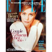 Elle N� 2595 Du 25/09/1995 - Les Nouvelles Matieres Qu'on Prefere - La Mode Skai - Vinyl Et Stretch - Emmanuelle Beart - Couple - La Tendance Chacun Chez Soi - La Saison Cezanne