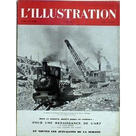 ILLUSTRATION (L') N° 5225 DU 01/05/1943 - UN CHANTIER DE CONSTRUCTION D'ABRIS POUR SOUS-MARINS SUR LES COTES DE L'ATLANTIQUE - POUR UNE RENAISSANCE DE L'ART / LES LECONS DU PASSE