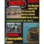 Moto Journal N� 626 Du 10/11/1983 - Essais : Les Hondas Cross 84. 125 Suzuki Dr. Harley Softail. Bmw Paris-Dakar. Les Nouveautes De Tokyo. Prieur : L'incroyable Saut.
