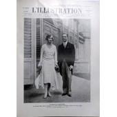 Illustration (L') N� 4522 Du 02/11/1929 - Fiancailles Princieres / La Princesse Marie-Jose De Belgique Et Le Prince Humbert De Piemont Heritier Du Trone D'italie