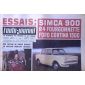 Auto Journal (L') N� 318 Du 21/02/1963 - Essais - Simca 900 - R4 Fourgonnette - Ford Cortina 1500. Une Voiture De Course Offerte Au Meilleur Debutant Francais.