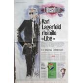 Liberation N� 9053 Du 22/06/2010 - Karl Lagerfeld Rhabille Libe - Un Journal Demesure Par Laurent Joffrin - 2 Offres Fermes Pour Le Monde - Rapatriement Fiscal Pour Bettencourt - Mondial - La Der Des Bleus