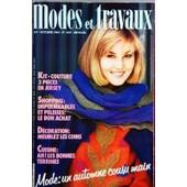 Modes Et Travaux N� 1007 Du 01/10/1984 - Kit-Couture - 3 Pieces En Jersey - Shopping - Impermeable - Decoration - Meublez Les Coins - Cuisine - Les Bonnes Terrines - Mode Automne