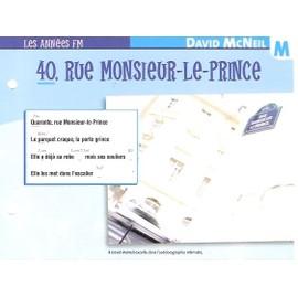 fiche chanson atlas DAVID MCNEIL 40, rue monsieur le prince