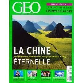 Geo 2012 (N�397) La Chine Eternelle - Ces Societes Ou Les Femmes Gouvernent - Dans La Lumiere Blanche D'alger - Le Douloureux Reveil De L'italie - Ou Pourra-T-On Encore Skier En 2025