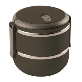 Lunch Box Ronde Inox Ext�rieur Plastique Taupe * - 71133