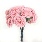 Bouquet 10pcs Fleur Artificiel Roses En Mousse Ros� D�co Mariage Maison