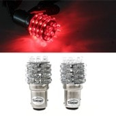 2 T25 1157 P21/5w Lampe Ampoule 45 Led Rouge Pr Voiture