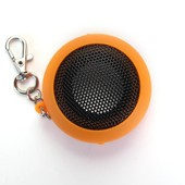 Mini Rond Portable Enceintes Haut-Parleur Speakers Audio USB MP3 MP4 Orange