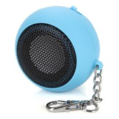 Mini Rond Portable Enceintes Haut-Parleur Speakers Audio USB MP3 MP4 BLEU