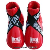 Prot�ges Pieds Full Contact Rouge Metal Boxe - L