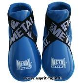 Prot�ges Pieds Full Contact Bleu Metal Boxe - Xl