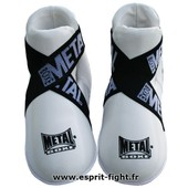 Prot�ges Pieds Full Contact Blanc Metal Boxe - L
