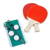 Set Ping Pong 2 Raquettes 2 Balles + Filet Jeu
