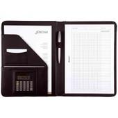Alassio R�f 96086 Conf�rencier Avec Bloc-Notes Cuir Synth�tique Noir A4 (Import Royaume Uni)