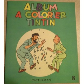 Album A Colorier Tintin 8 Collector De 1969