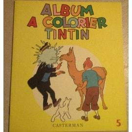 Album A Colorier Tintin 5 Collector De 1968