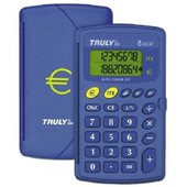 Truly Calculatrice Ct200 Poche 8 Chiffres Double Affichage Couvercle Rigide