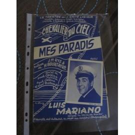 Mes Paradis (de l'opérette Chevalier du Ciel) Luis Mariano