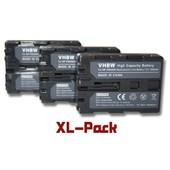 Lot de 3 batterie Li-Ion vhbw 1200mAh pour appareil photo Hasselblad HV. Remplace: NP-FM500H