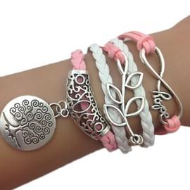 Bracelet Arbre De Vie Infini Karma Love Infinity Breloques Medaillon
