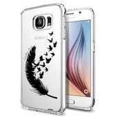 Coque Crystal Plume Pour Samsung Galaxy S6