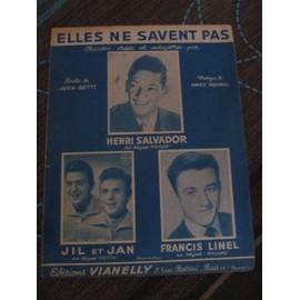 Elles ne savent pas (Henri Salvador, Jil et Ja, Francis Linel)