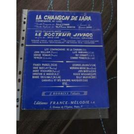 La Chanson De Lara (Somewhere, My Love) (du film Le Docteur Jivago) Les Compagnons de la Chanson, Luis Mariano, Franck Pourcel, Eddie Barclay, Georges Jouvin, ...