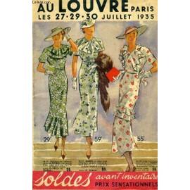 Catalogue - Au Louvre Paris Les 27 29 30 Juillet 1935 - Soldes Avant Inventaire Prix Sensationnels. de COLLECTIF