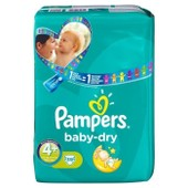 Pampers Baby Dry T4+ 9-20kg G�ant X39 Couches