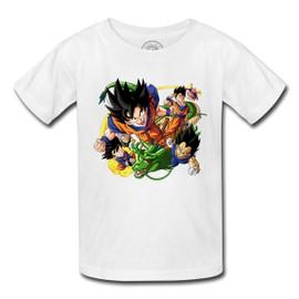 T-Shirt Enfant Dragon Ball Z Sangoku Vegeta Piccolo Trunk Manga Anime Sengoku