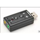 C03 Mini Usb 2.0 Virtuel 7.1 Canaux Audio Carte Son Audio Adaptateur 3d Pour Pc