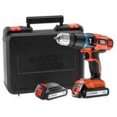Black & Decker Egbl188kb Perceuse Visseuse Sans Fil 18 V Avec 2 Batteries (Import Allemagne)