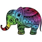 Autocollant Sticker Laptop Macbook Elephant Arc En Ciel Couleur