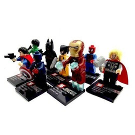Lot De 8 Mini Figurines Articul�es Super Heroes