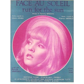 rare partition SYLVIE VARTAN face au soleil ( run for the sun )