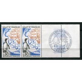 france année 1972 n°1704 neufs** découverte des iles crozet et kerguelen / en marge 1er jour paris 29/01/1972