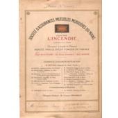 Soci�t� D�Assurances Mutuelles Mobili�res Du Mans Contre L�Incendie. Police De 1918 Bagneux Pr�s De Saumur