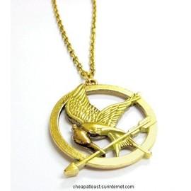Collier Avec Pendentif Oiseau Geai Moqueur Hunger Games Katniss Erverdeen Mocking Jay Cosplay / M�tal Argent�, Dor� Ou Cuivr�/Bronze